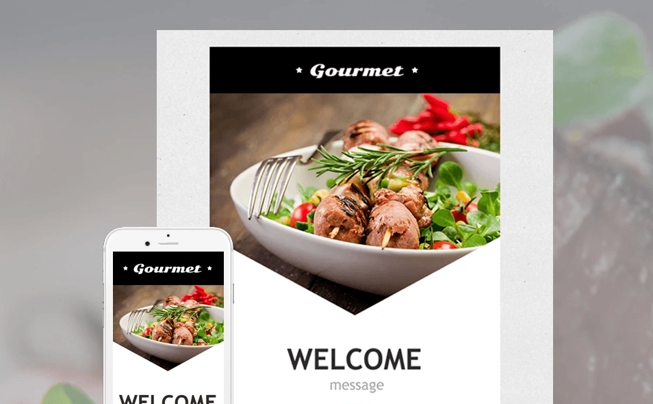 Cafe and Restaurant Responsive Newsletter Template