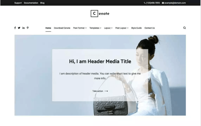 Cenote WordPress Theme