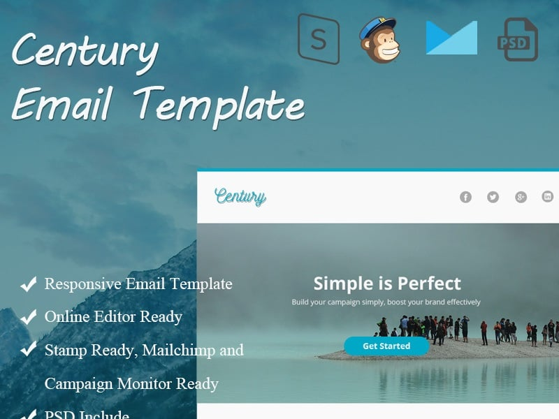 Century Email Newsletter Template