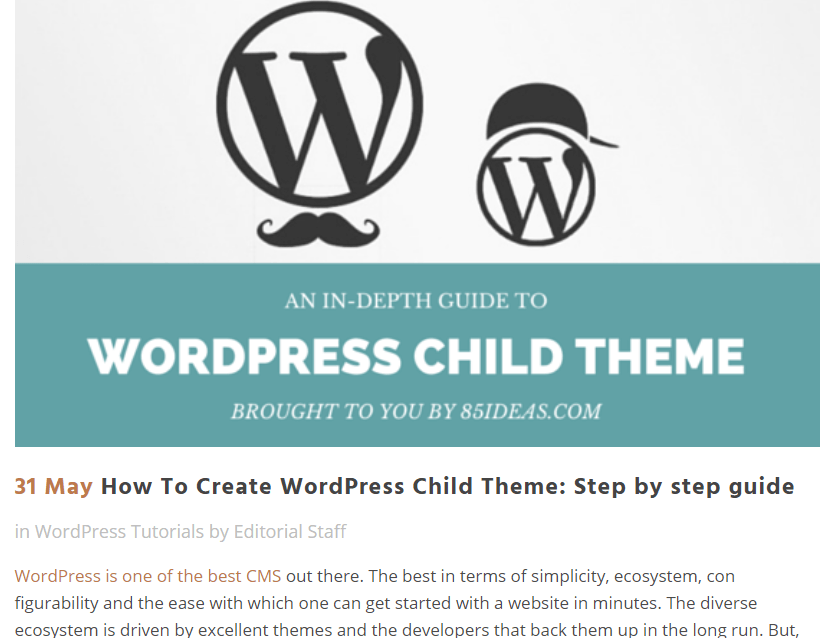 Child Theme: Step by step guide