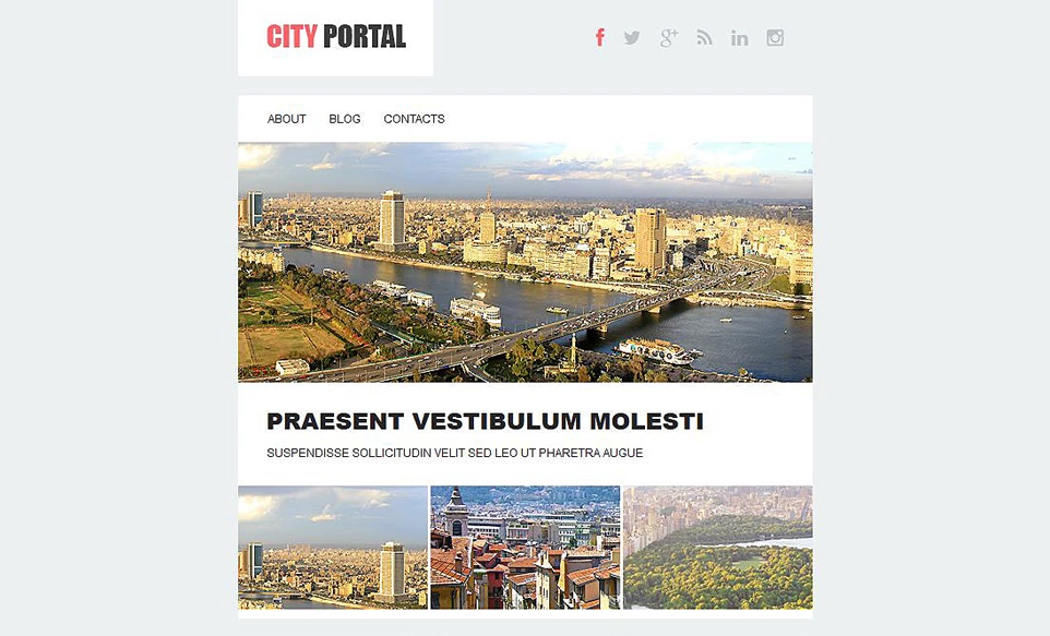 City Portal Responsive Newsletter Template