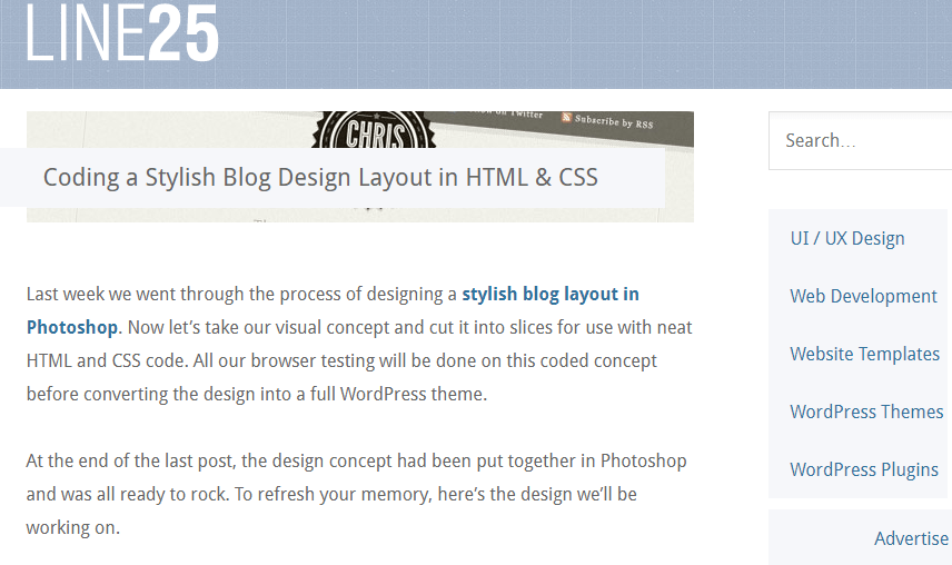 Coding a Stylish Blog