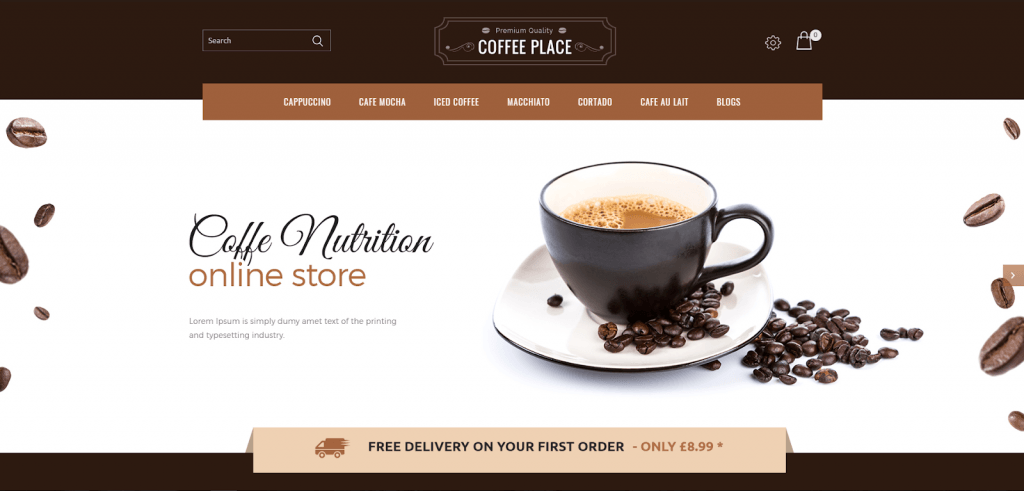 Coffee Place OpenCart Template