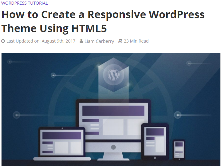 Create a Responsive WordPress Theme