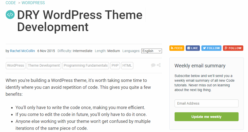 DRY WordPress Theme