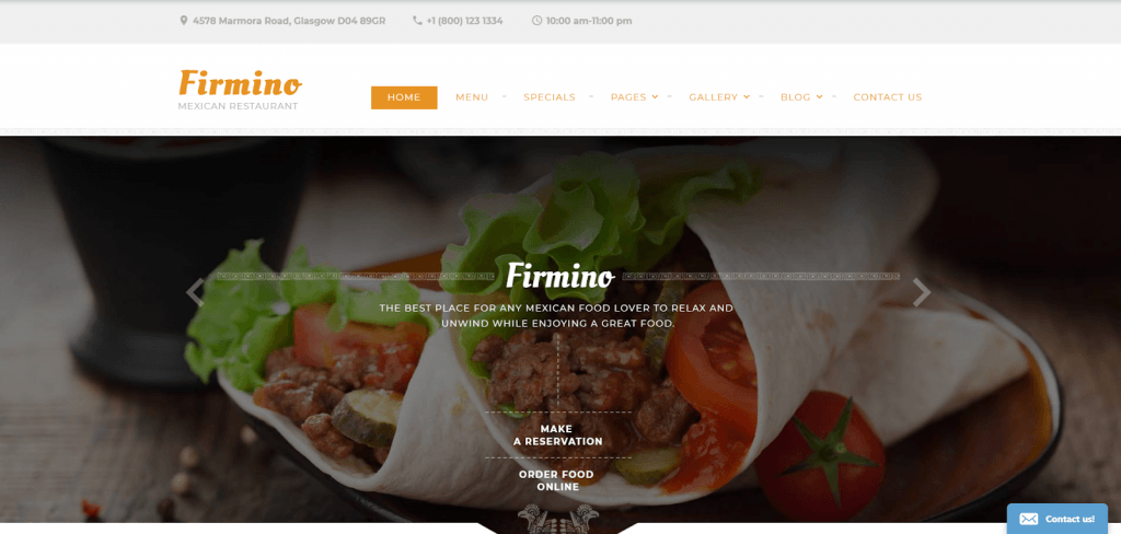 Firmino - Mexican Restaurant Multipage Website Template