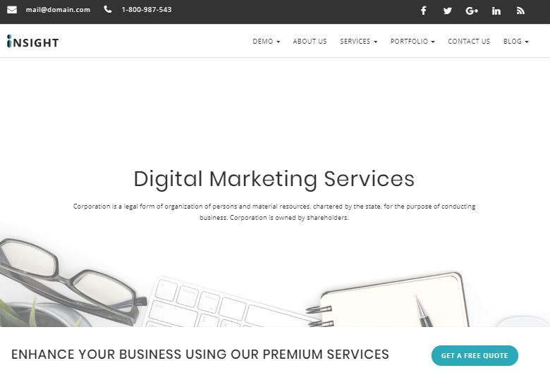 Marketing Agency WordPress Templates