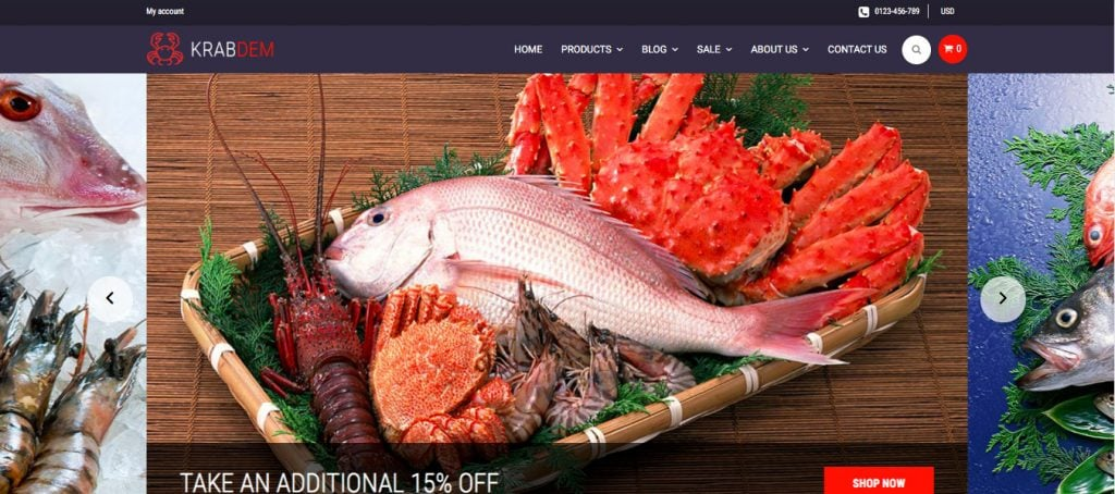 Seafood-Restaurant-Shopify-template