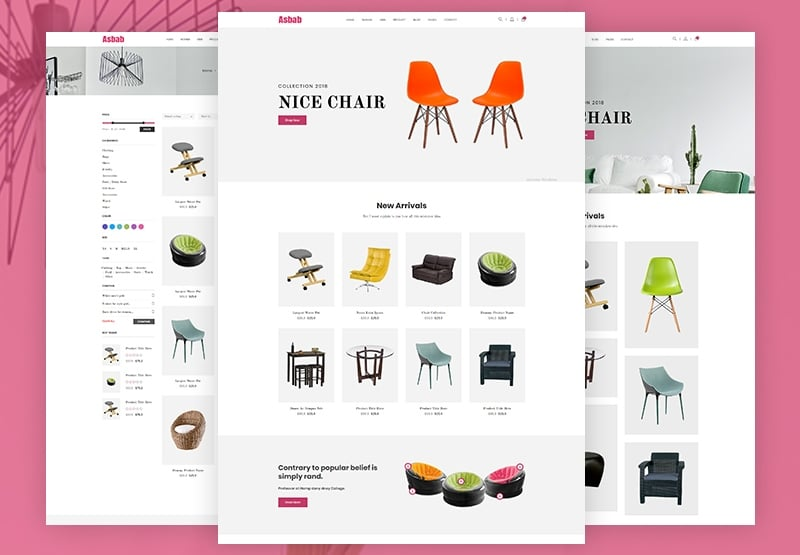Asbab - eCommerce Website Template