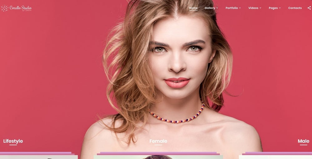 Corallo Studio - Photographer Portfolio Multipage Website Template