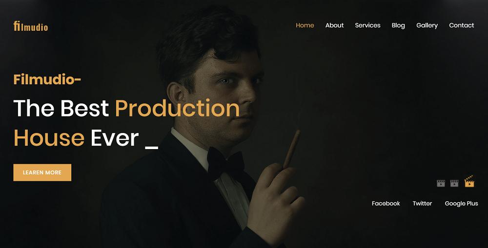 Filmudio - Movie Production, Film studio, Creative & Entertainment WordPress Theme
