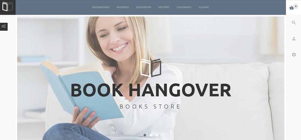Free PrestaShop Theme for Book Website