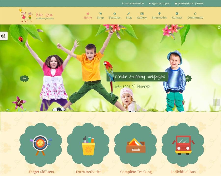 children wordpress themes