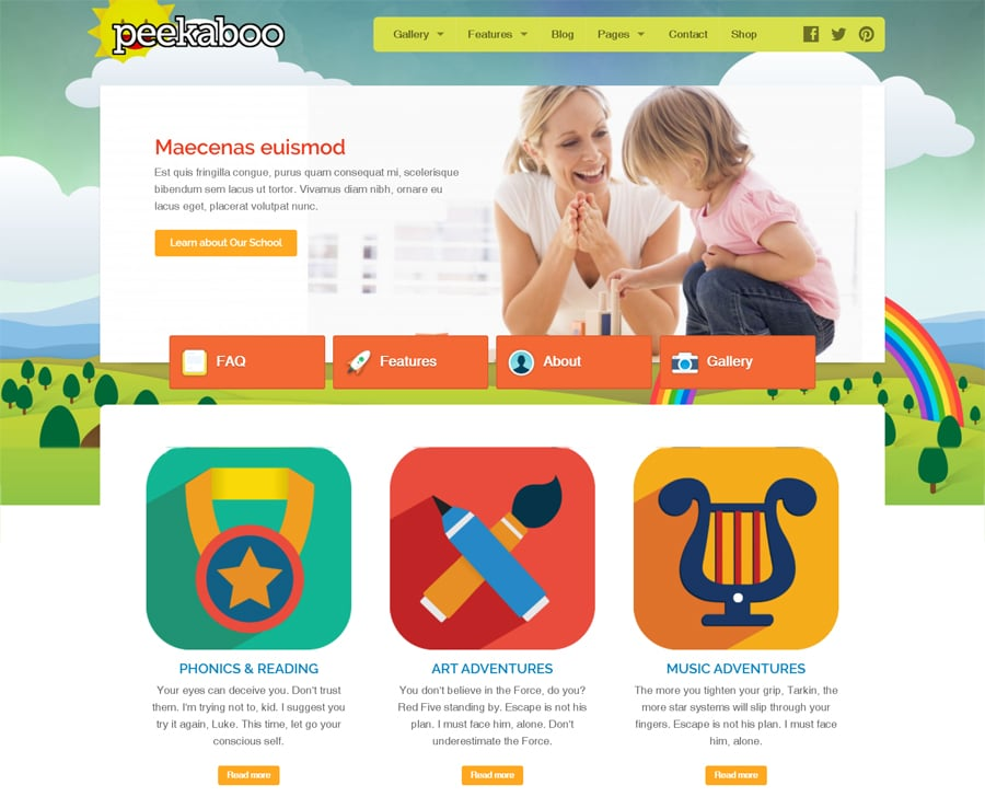 30 Most Lovely Premium Children WordPress Themes
