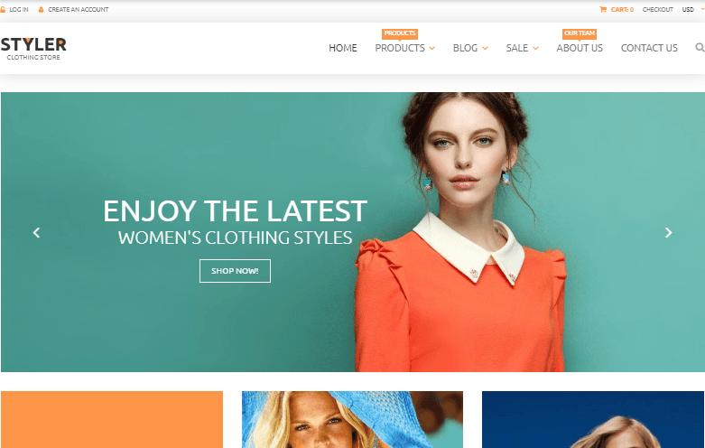 Styler Original Clothing Shopify Theme