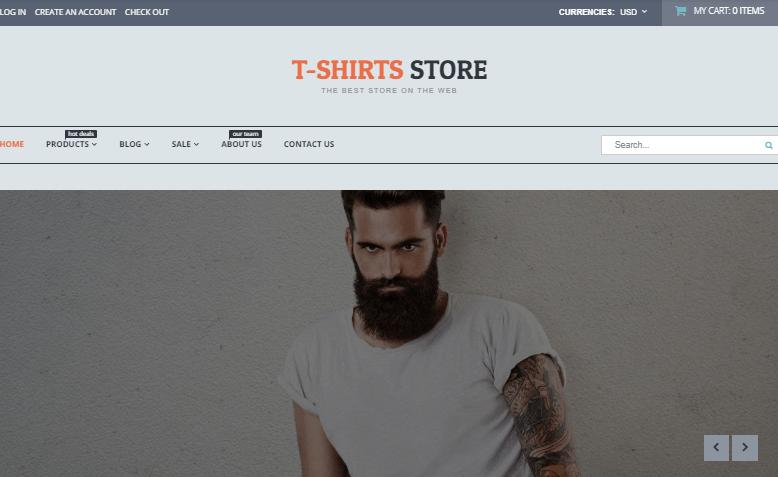 T-shirt Shop Responsive