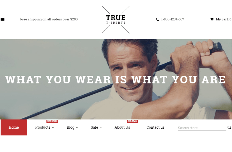 True T-Shirts Shopify Theme