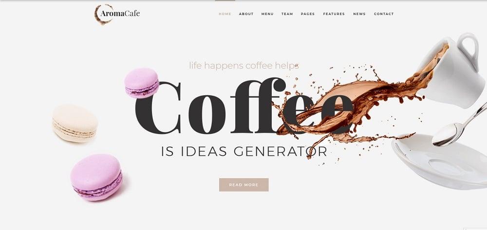 Aromacafe - Coffee Shop Elementor WordPress Theme