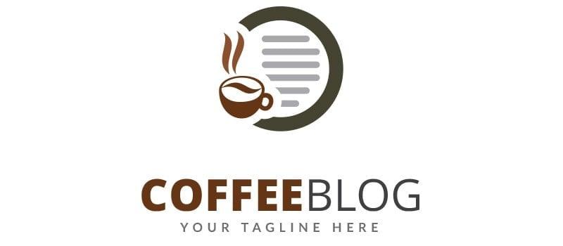 Coffee Blog Logo Template