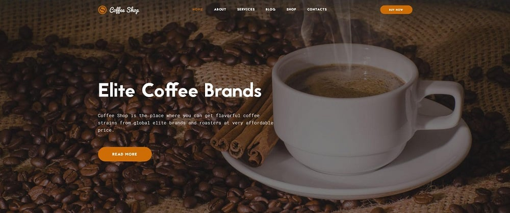 Coffee Shop Multipage Website Template