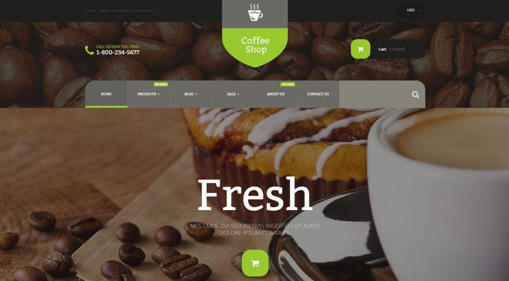 Coffee Store Shopify Theme