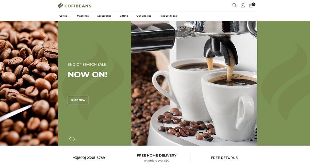 CofiBeans - AMP Coffee Shop Magento Theme