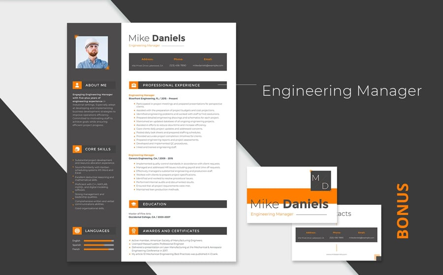 Resume Template Adobe Illustrator 27