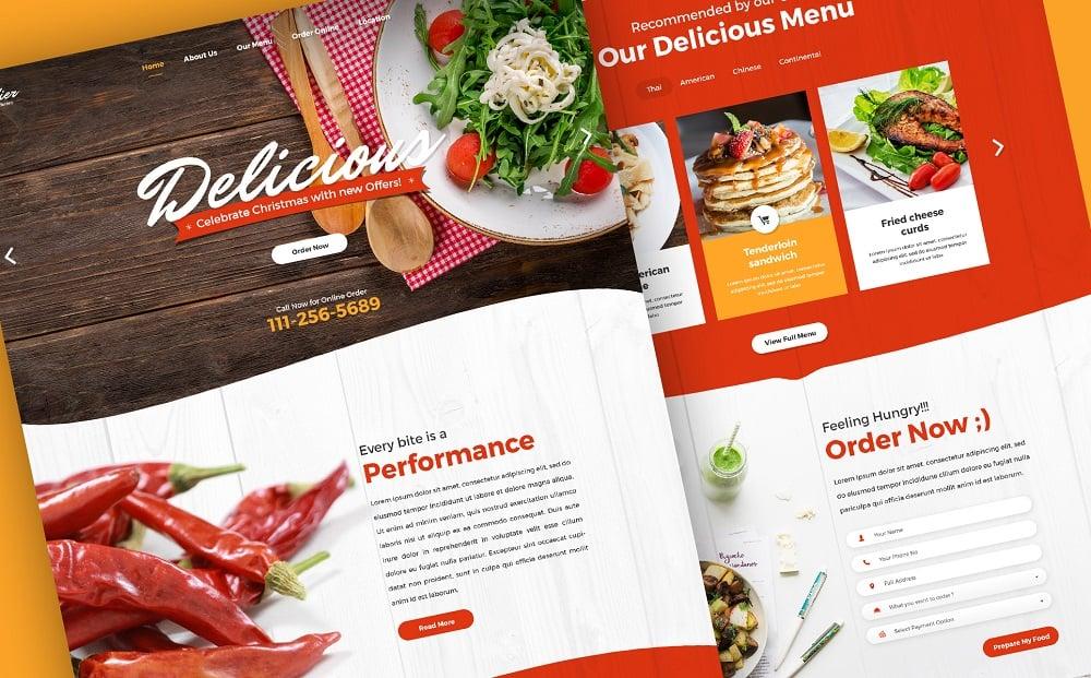Foodier - Creative Parallax PSD Template