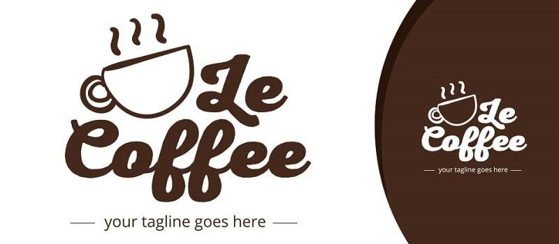Le Coffee Logo Template