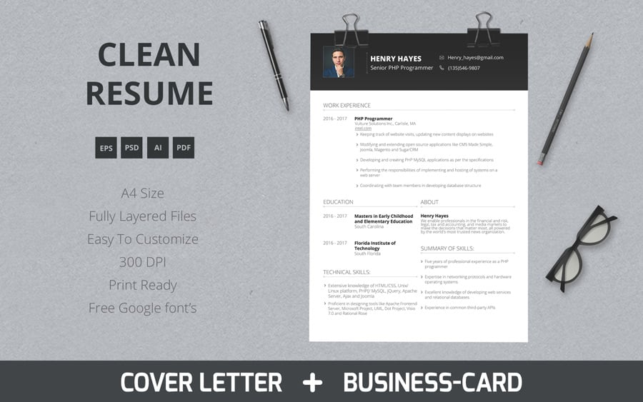 modern resume template word free