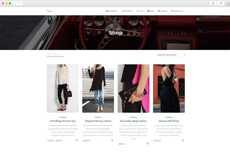 FAGRI Free One Page WordPress Theme