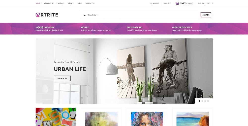 Artrite - Marvellous Art & Paintings Online Store Shopify Theme