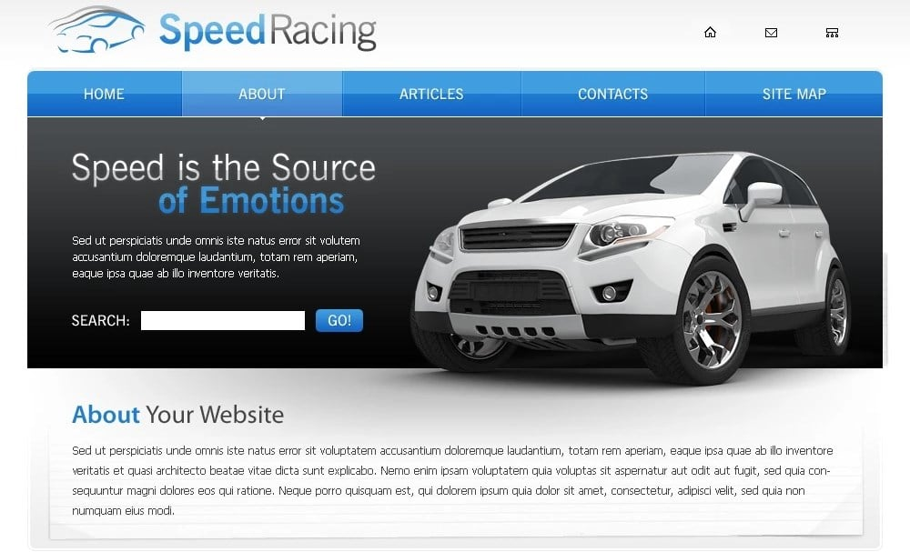 Racing Website Template