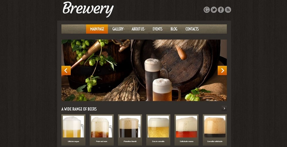 brewery wordpress templates
