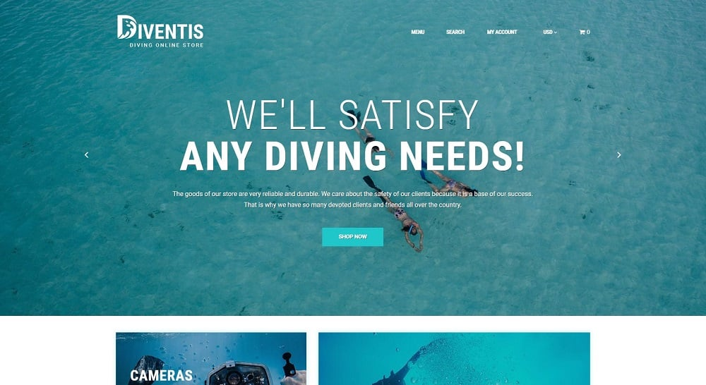 Diventis - Diving Equipment Online Store Shopify Theme