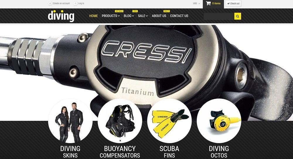 Diving Shop Shopify Theme