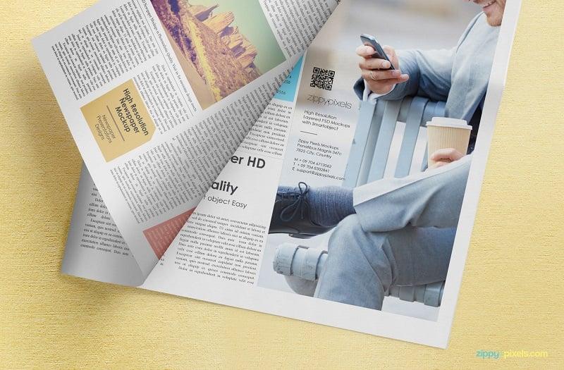 Newspaper Adverts Mockup
