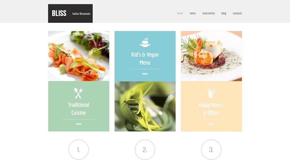 Free HTML5 Theme for Restaurant Website