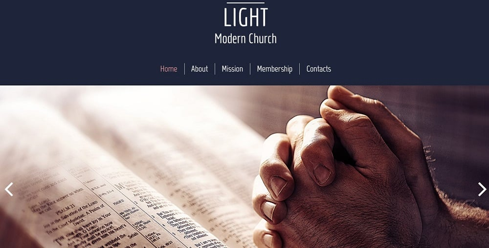 Free HTML5 Theme for Religious Site