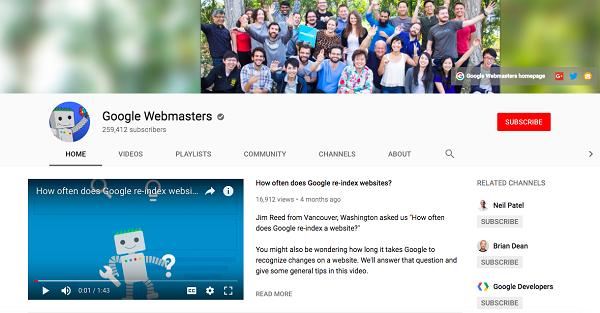 google webmasters