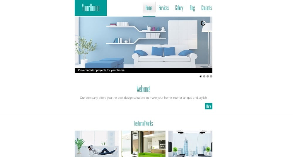 Free HTML5 Theme for Interior Site