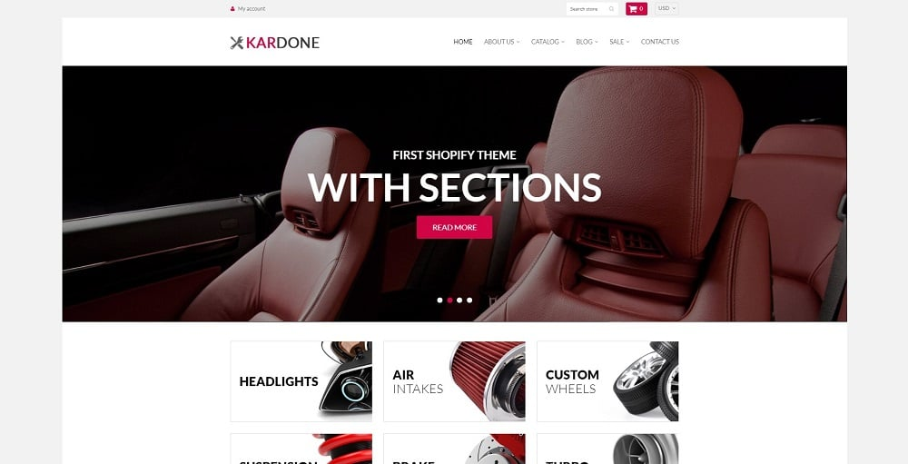 KarDone - Auto Parts Shop Shopify Theme