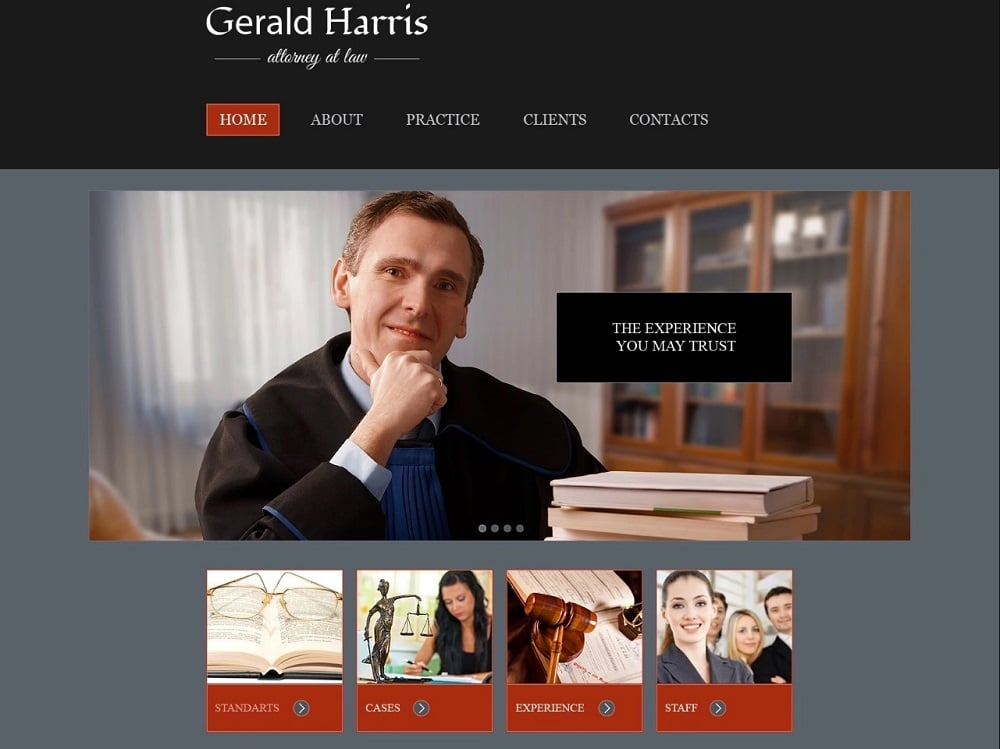 Free Website Template - Law Firm