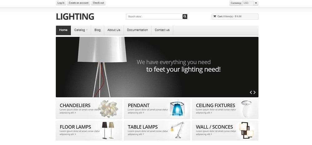 Lighting Shopify Theme