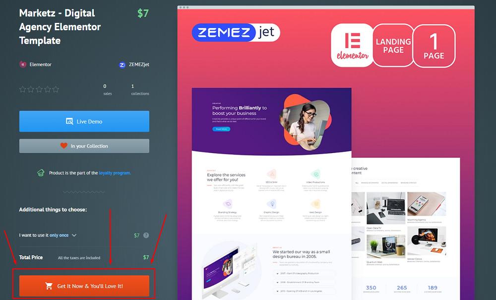 Marketz digital agency template
