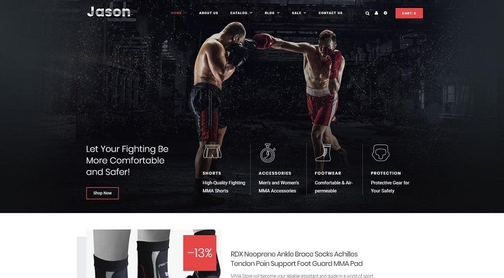 Martial Arts Responsive Shopify Theme