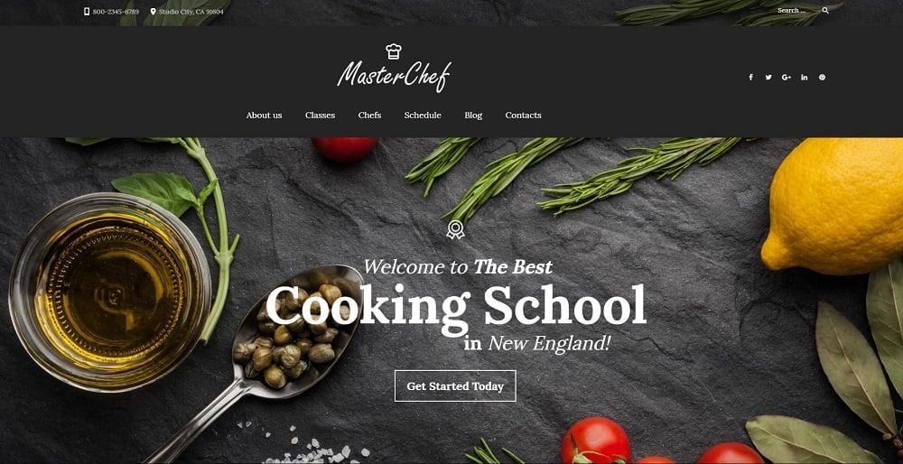 Master Chef Cooking School WordPress Theme