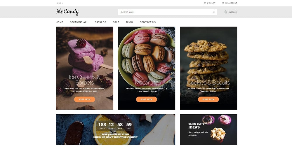 Ms.Candy shopify theme
