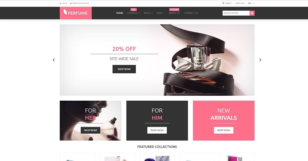 Perfumes Cosmetics Shopify Theme
