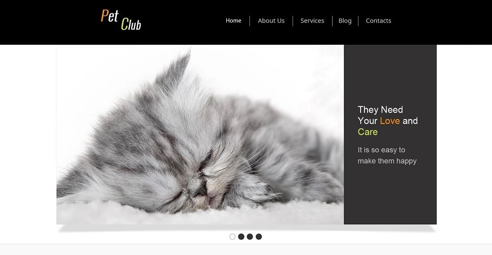 Free Website Template - Pet Site